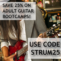 25% Off Adult Guitar Boot Camps at CSM - The perfect gift