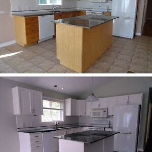 Kitchen cabinet painting packages starting at $800.