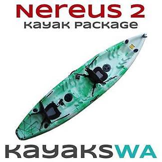 SALE - New Nereus Double / Triple Kayak Backrest and Paddles