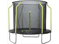 8ft plum trampoline with enclosure still in box