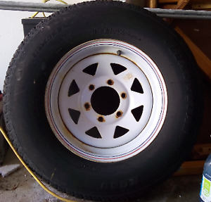 225/75/D15 Trailer tire on 6 bolt tim