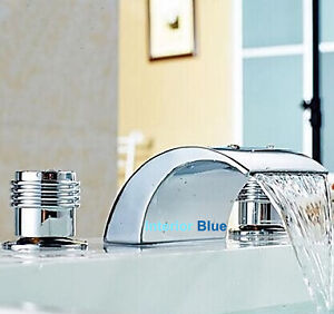 Tub Mount Faucet (3 holes) WATERFALL Design - Hot Deal !