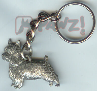 SILKY TERRIER Dog Fine Pewter Keychain Key Chain Ring
