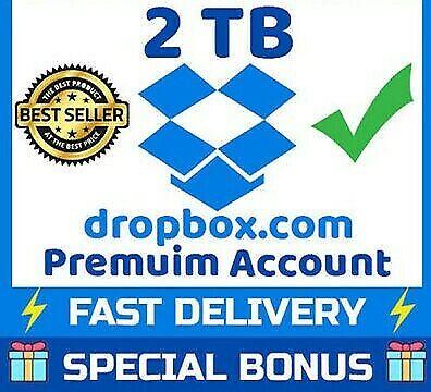 Dropbox Plus 2TB 1 Year Subscription Account