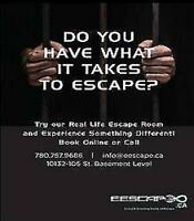 EDMONTON ESCAPE ROOMS looking for front desk and game instructor