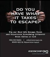 You can get a free gift card at Edmonton Escape Rooms