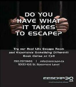 EDMONTON ESCAPE ROOMS:REAL LIFE ESCAPE ENTERTAINMENT