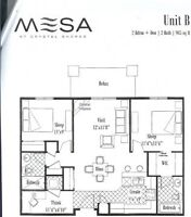 Mesa Condo in Okotoks (2 Bedroom + Den 2 Bathroom Unit)