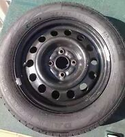Steel Toyota Corolla rims and tires