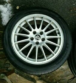 17 inch S Type Jaguar wheels
