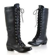 Womens Leather Lace Up Boots