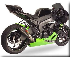 2014 ZX6R MGP Carbon Fiber Exhaust Slip On 2009 2010 2011 2012 2013 Hotbodies