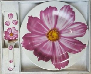 Cake Ceramic Plate with Server - 10.5 Inches diameter BRAND NEW