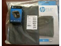 Wireless HP Mouse BNIB and HP 15.6 Inch laptop sleeve