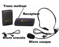 Micros sans fil a partir de $60 -wireless mics $60 and up