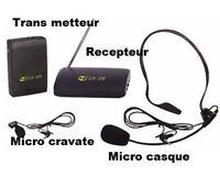Kit micro sans fil NEUVE -  NEW wireless microphone kit