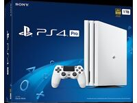 BRAND NEW, SEALED IN BOX PS4 PRO 1TB GLACIER WHITE