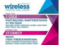 ** 6 x wireless tickets Friday + Saturday ** **£165 Each**