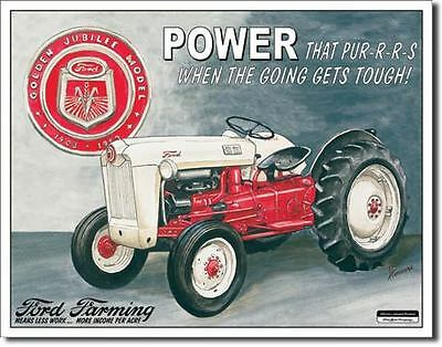 Vintage Replica Tin Metal Sign Ford Farming Jubilee Model Tractor 8n 9n 699