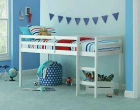 Child bed mid sleeper with mattress NEW