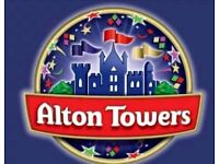 1 alton towers ticket for tomorrow. 20/07/18. Can meet you at the gate or collection tonight
