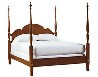 QUEEN SIZE FOUR POSTER CHERRY WOOD BED FRAME COMPLETE
