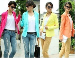 SR-Hot-Elegant-OL-FOLDABLE-SLEEVE-Women-SUIT-Outwear-Blazer-Jacket-Coat