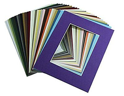 High Quality Crescent Pack of 10 11x14 MIXED COLORS White Core Picture Mats for](Photo Mat)