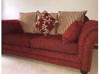 3 seater sofa & matching Queen Anne chair