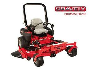 DEMO SALE -- New Gravely Pro Master 260 Riding Lawn mower