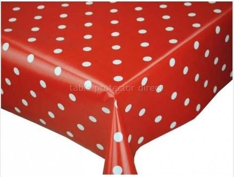 Oilcloth Red And White Polka Dot Tablecloth Protect Your Table For Years