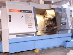 Mazak Integrex 35Y R CNC Lathe with Live Tooling  Y- Axis- Video
