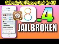 Untethered Jailbreak IOS 8.4 Any iPhone 6, 5, 5S, 6 Plu