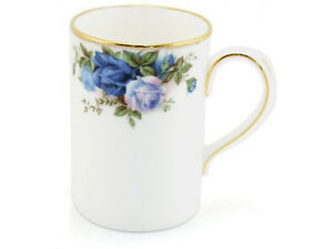 NEW ROYAL ALBERT TALL BONE MUG - MOONLIGHT ROSE FINE BONE CHINA COFFEE MUGS