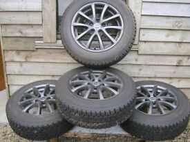 Buy the unused Tyres get brand new alloys free