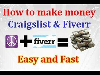 Money Making Money For Beginners Online Business Youtube Fiverr Craigslist