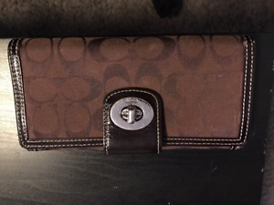 Authentic Brown Coach Wallet