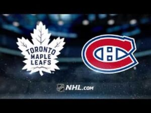 Toronto Maple Leafs vs Montreal Canadiens HOME OPENER