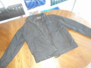 Men's Levi's black lined coat (large) - $5