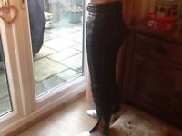Ladies Leather Motorbike Trousers size8/10 fitting