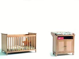 new and boxed Vienna Solid Wood Nursery Furniture Set - Birch £130 for the set