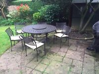 Beautiful Iron Garden Table and Chairs