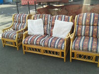 Cane conservatory suite (delivery available)