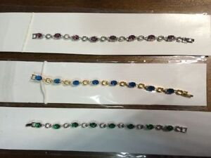 3 Brand New Swarovski Tennis Bracelets. Price is for all. 6.5 in