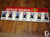 WANTED: McDonalds 95 or 96 goalie masks display showcase helmets