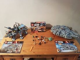 3 Lego Star Wars sets and Extra Characters