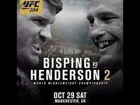 1 x ticket - UFC 204: Bisping Vs Henderson 2