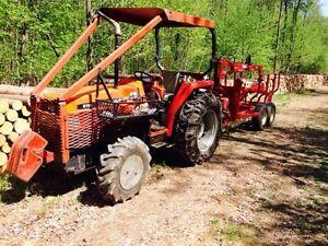 Tracteur,Trailer et Chargeuse Forestier