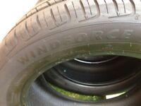 Windforce Tyres x4 almost brand new 215/55ZR17 98W XL