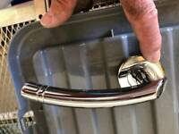New silver / chrome door handles